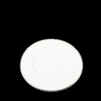 Plato de postre Plano Ribete oro Ø 23 cm