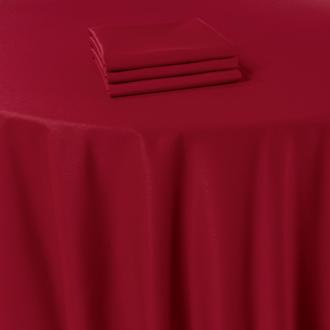 Pasillo de mesa Marjorie rojo 50 x 270 cm ignífugo M1
