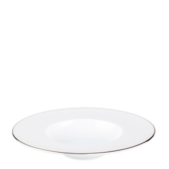 Plato hondo ribete plata Ø 27 cm cavidad Ø 15 cm