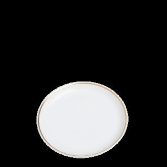 Plato de pan Plano Ribete Oro Ø 12 cm