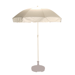 Parasol blanco Ø 180 cm.