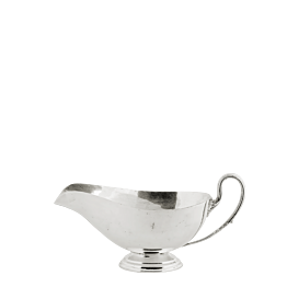 Salsera plata . Alt. 7 cm. 25 cl.