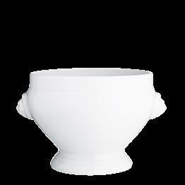 Sopera blanca, cabeza de león Ø 20 cm. Alt. 15 cm. 280 cl.