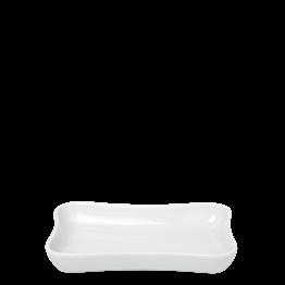 Cenicero blanco porcelana 7 x 10 cm.