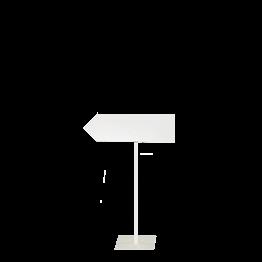 Cartel de Dirección con pie blanco izquierda