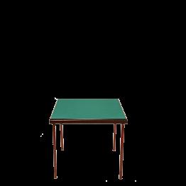Mesa de bridge 78 x 78 cm. Alt. 70 cm.