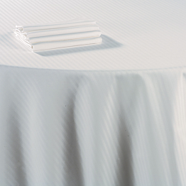 Mantel algodón blanco 240 x 400 cm.