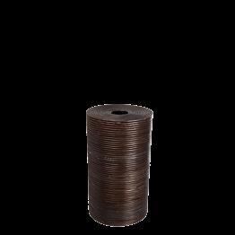 Papelera mimbre con tapa Alt 60 cm Ø 35 cm