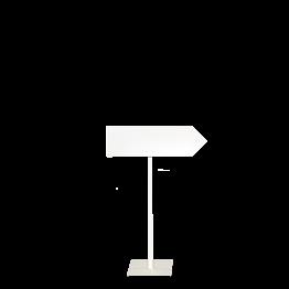 Cartel de Dirección con pie blanco derecha Alt. 100 cm.