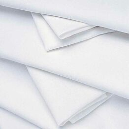 Mantel lino blanco 180 x 180 cm.