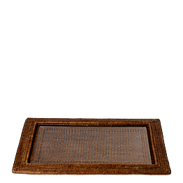 Bandeja rectangular Luisiana 46 x 63 cm. con placa de cristal