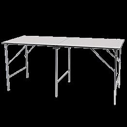 Mesa plegable de acero inoxidable 200 x 80 cm – alt. 90 cm.