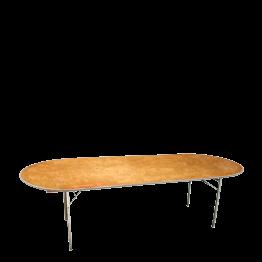 Mesa oval 100 x 300 cm.