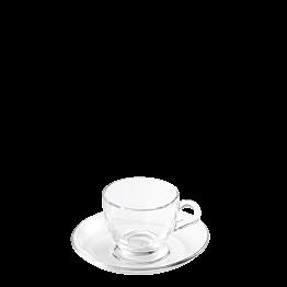 Taza y plato de café Ola 7 cl.