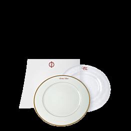 Inscripción sobre plato - roja