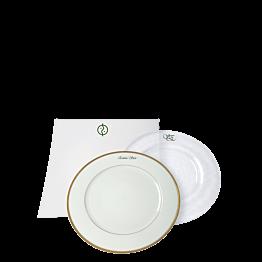 Inscripción sobre plato - verde