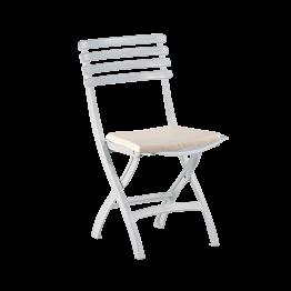 Silla Deauville con cojín blanco