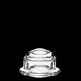 Mantequillera de cristal con tapa Ø ext 10 cm Ø int 5,5 cm A 6 cm