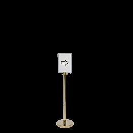 Poste indicator alt. 130 cm. formato A4