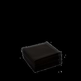Servilleta cóctel tela negra 20 x 20 cm (30 u.)