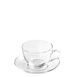 Taza y plato de té Ola 21 cl.