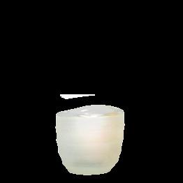 Portavela Capri blanca Ø int 5 cm Ø ext 6,5 cm Alt. 6 cm