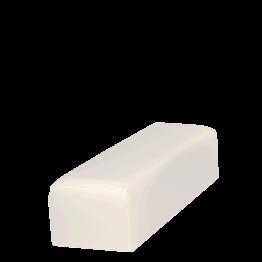 Banqueta en vinilo blanco 50 x 150 cm Alt. 40 cm