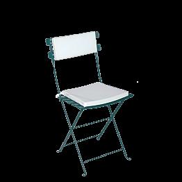 Silla Trocadero verde con asiento y respaldo blanco