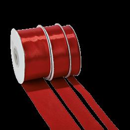 Ruban de satin rouge 25 mm Longueur 25 m