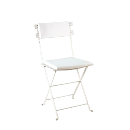 Silla Trocadero blanca con asiento y respaldo blanco