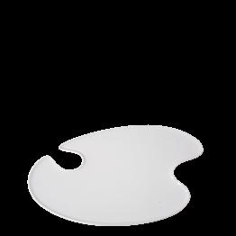 Plato pintor blanco 18 x 20 cm