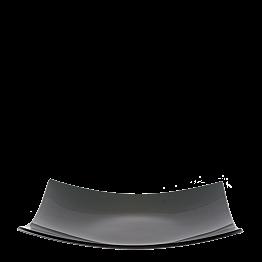 Bandeja cuadrada negra en cristal 29 x 29 cm.