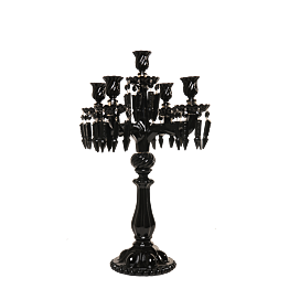 Candelabro cristal negro 5 brazos