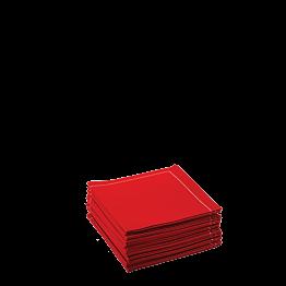 Servilleta cóctel tela roja 20 x 20 cm (30 u.)