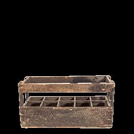 Caja botellera Vintage de madera 26 x 66,5 H 34 cm