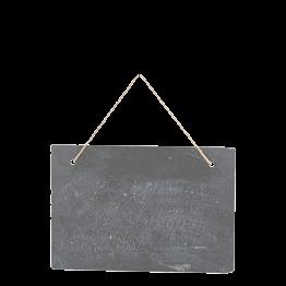 Letrero pizarra Vintage para colgar 30 x 19,8 cm