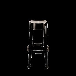 Taburete cristal negro Alt. 75 cm