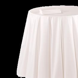 Mantel chintz blanco 210 x 210 cm. ignífugo M1