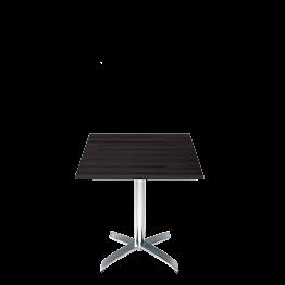 Mesa cuadrada negra 70 x 70 cm.