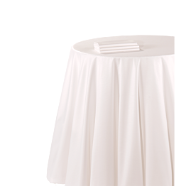 Pasillo de mesa chintz blanco de 50 x 270 cm. ignífugo M1