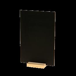 Pizarra de mesa sobre zócalo de madera 20 x 30 cm