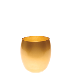 Vaso dorado Ø 9 cm Alt. 9,5 cm 36 cl