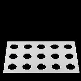 Bandeja de manipulación vaso coctel 60x40 cm para bandeja pastele