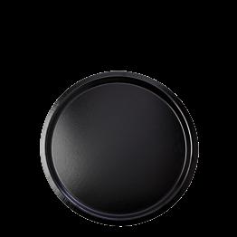 Bandeja de servicio negra antideslizante Ø 37 cm.