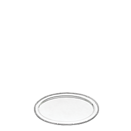 Bandeja oval plata Luis XVI 33 x 52 cm.