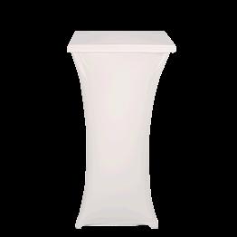 Mesa coctel alta con funda blanca Alt 111 60 x 60 cm. ignífuga M1