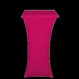 Mesa coctel alta con funda fucsia 60 x 60 cm Alt 111 cm