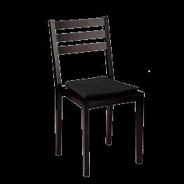 Silla Pirámide negra con asiento de terciopelo negro ignífuga