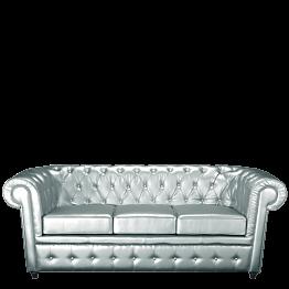 Sofá Chesterfield plata L 202 P 92 H 76 cm