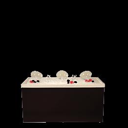 Buffet plegable « bar ensaladas » 100 x 200 cm; Entrega 48 H.